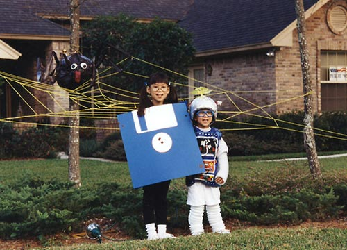 Floppy Disk Halloween Costume