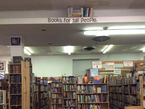 Books For Tall People | High Ledge In Book Store