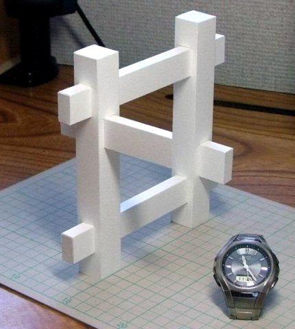 Wood Puzzle Illusion