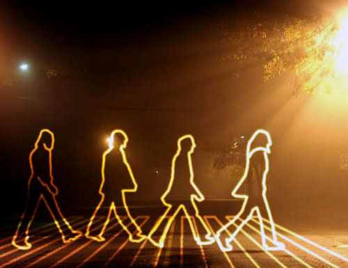 Abbey Road Light Trails