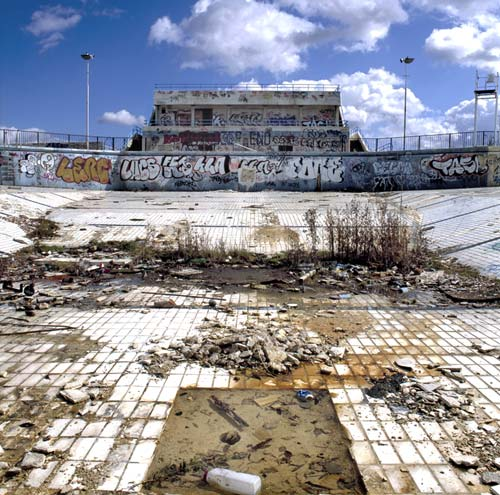 Abandoned Empty Swimming Pool Photography