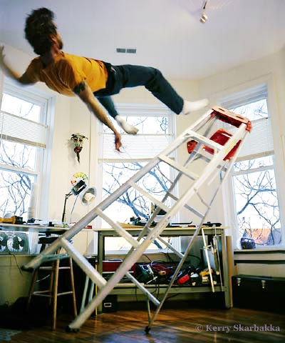 Fall From Ladder Photograph