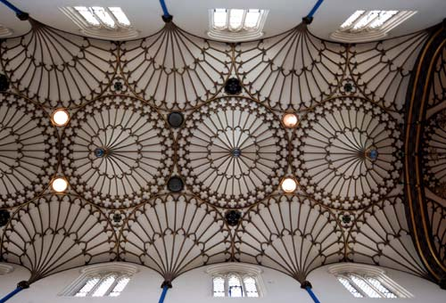 Geometric Ceiling of St Annes Church, Edinburgh