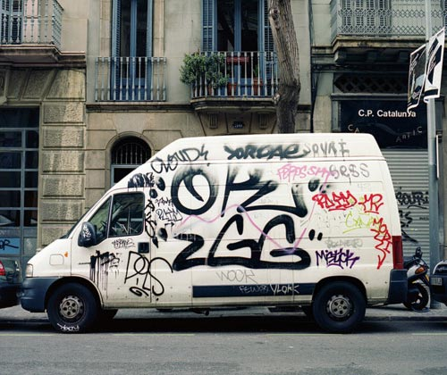 Graffiti Tagged Van
