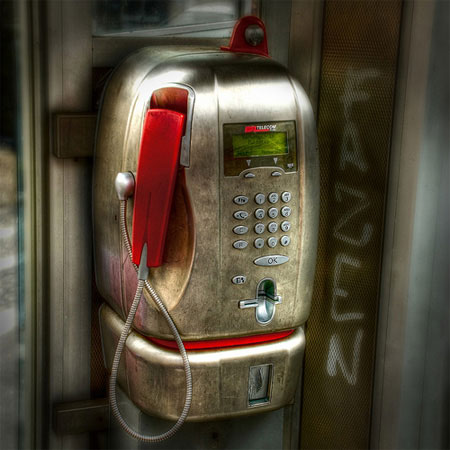 Public Payphone HDR Photo