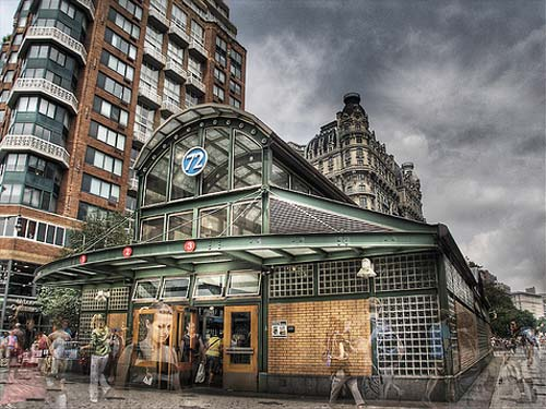 HDR in NYC | 1 2 3 Line at 72nd Street