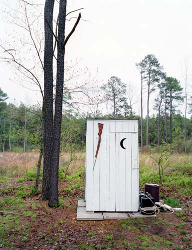 Outhouse with Rifle Rack