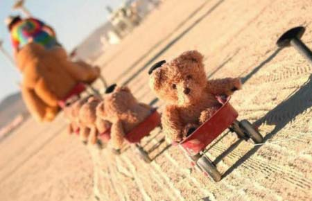 Little Red Wagon Teddy Bear Train