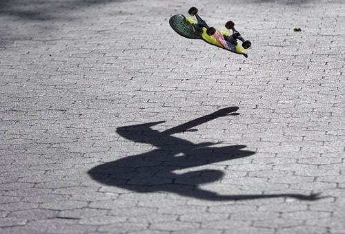 Skateboard Shadow Photography