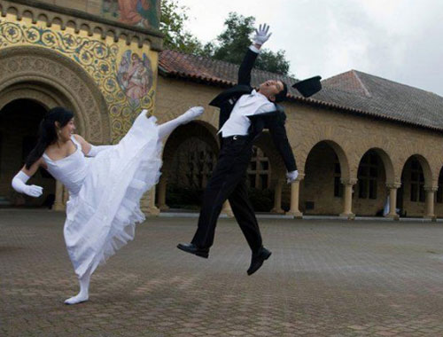 Martial Arts Wedding Photo