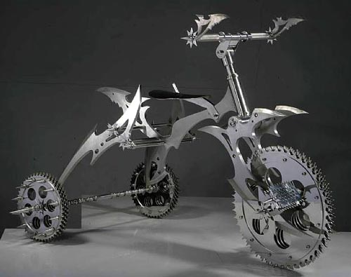 Stainless Knife Tricycle Sculpture