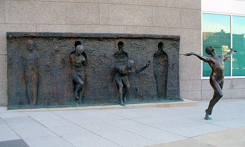 Statue Breaking Free