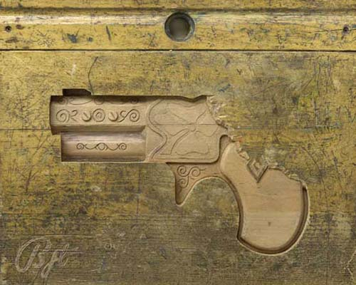 Wood Carved Gun