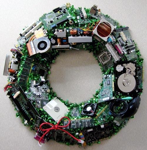 E-Waste Christmas Wreath