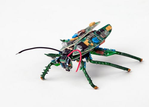 Recycled PCB Circut Board Insect Sculpture