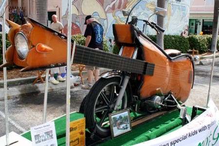 Guitar Shaped Motorcycle by Ray Nelson | Left Front View