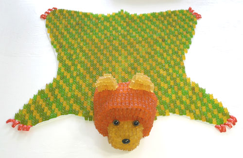 Gummi Bear Rug Sculpture
