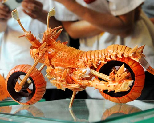 Lobster Motorcycle Sculpture