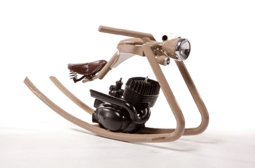 Rocking Chair Motorcycle Sculpture