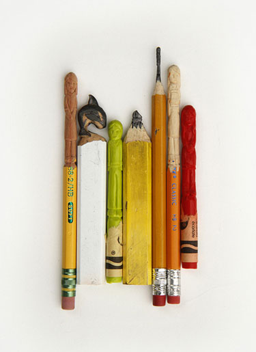 Pencil Lead And Crayon Carvings