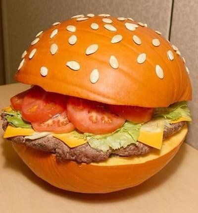 Hamburger Pumpkin Carving