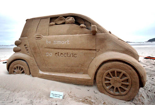 Smart Car Sandcastle
