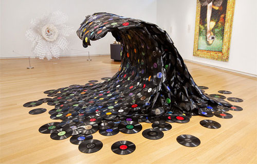 Record Wave Sculpture