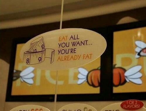 Eat All You Want Restaurant Sign