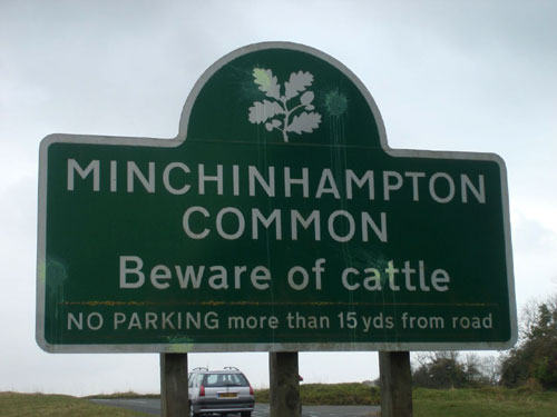 Beware of Cattle Sign | Minchinhampton Common, UK