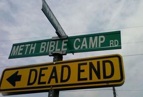 Meth Bible Camp Sign