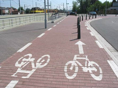 Bicycle Lane Obstruction | Paint Error