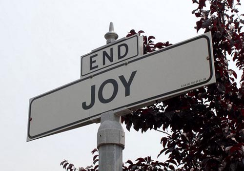End of Joy Street Sign