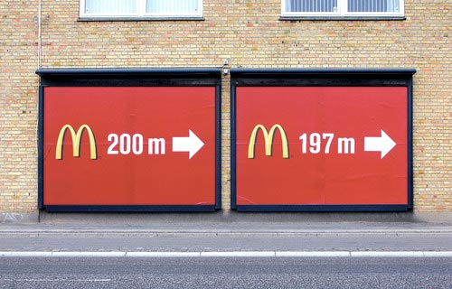 3 Meters Closer To McDonalds Signs