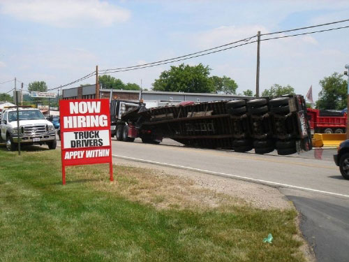 Now Hiring Truckers
