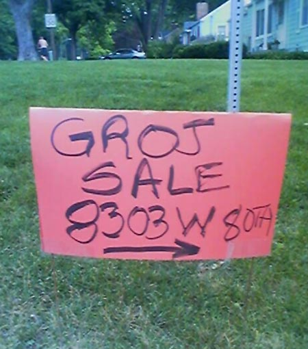 Funny Garage Sale Sign
