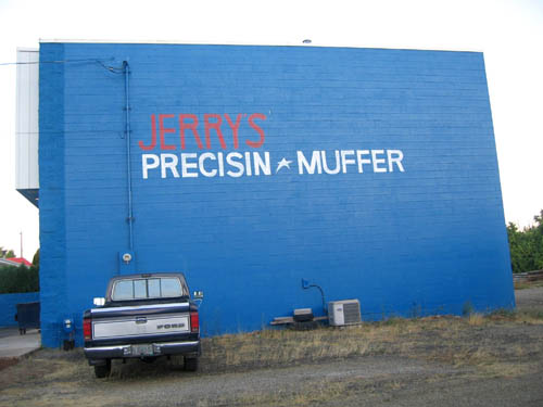 Jerrys Precisin Muffer | Misspelled Sign