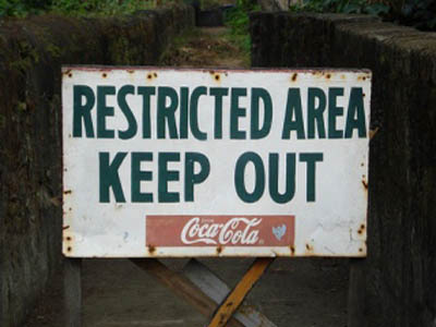 Coca-Cola | Keep Out Sign