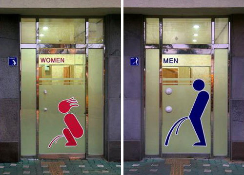 Descriptive Restroom Signs