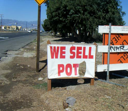 We Sell Pots Sign