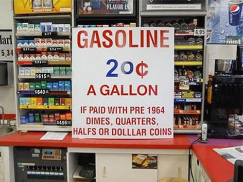 Gasoline For Silver Coins