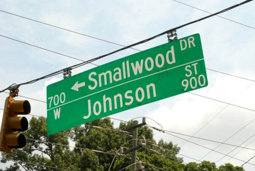 Smallwood Johnson Street Sign