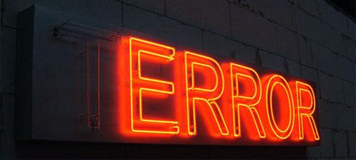 Terror Error Sign