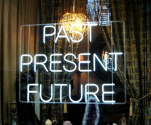 Past, Present, Future Psychic Sign