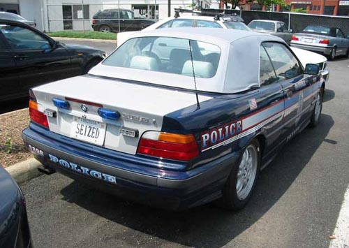 Seized Convertible Police Car