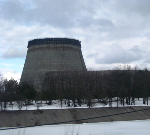 Abandonded Nuclear Cooling Tower In Mid Contruction At Prypiat Chernobyl