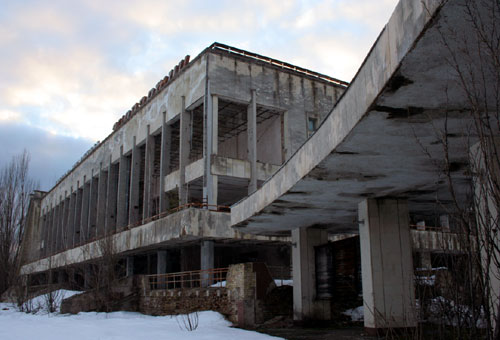 Abandonded Building In Mid Contruction At Prypiat Chernobyl