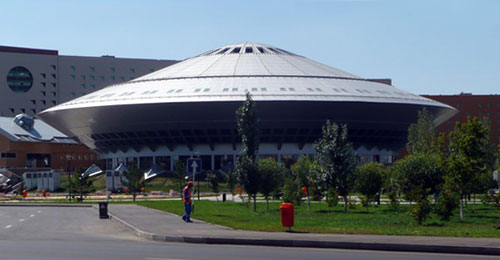 The Circus Arena Shaped Like A Flying Saucer In Astana, Kazakhstan