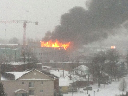 Fire At A Housing Complex In Downtown Kingston, Ontario