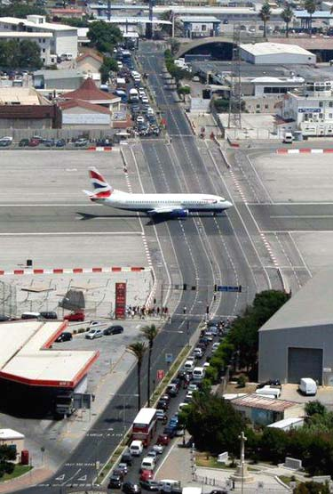 Gibraltar Airport Runway Intersection