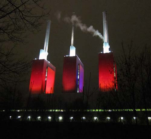 Heizkraftwerk Linden Thermal Power Plant In Hannover Germany